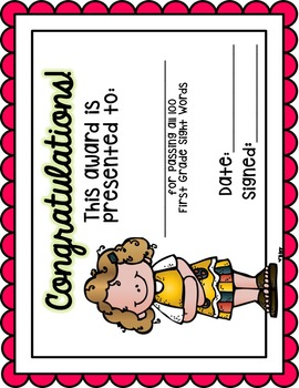 Sight Word Assessment Pack Set 1 (Fry's 1st 100 Words)