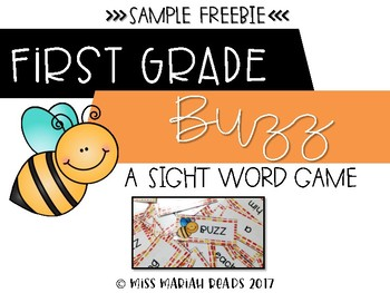 1st Grade Sight Word BUZZ *FREEBIE*