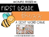 1st Grade Sight Word BUZZ *FREEBIE*