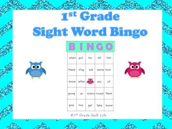 1st Grade Sight Word Bingo!