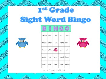 1st Grade Sight Word Bingo!