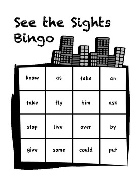 1st Grade Sight Word Bingo - Full Class Set