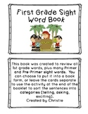 1st Grade Sight Word Book Pirate Theme