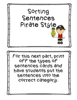 1st Grade Sight Word Book Pirate Theme