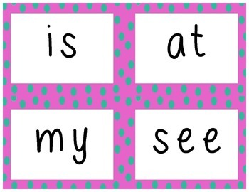 1st Grade Sight Word Cards