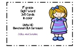 1st Grade Sight Word Cards Units 1-10 in Color (Benchmark