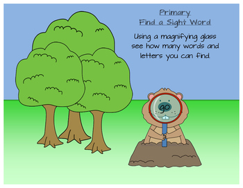 1st Grade Sight Word: February Groundhog's Day Word Search