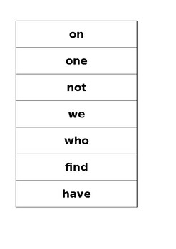 1st Grade Sight Word Flash Card Words & Sentences