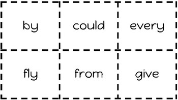 1st Grade Sight Word Flash Cards