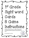 1st Grade Sight Word Flash Cards and Games
