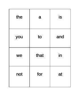 1st Grade Sight Word Flashcards