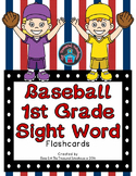 1st Grade Sight Word Flashcards - Baseball