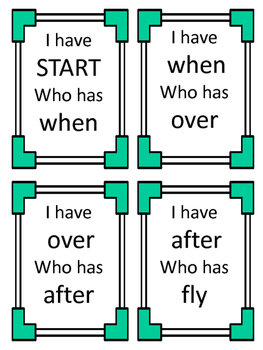 1st Grade Sight Words- I have... Who has...?
