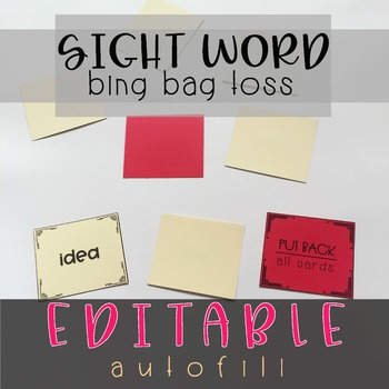 Sight Word Bing Bag Toss