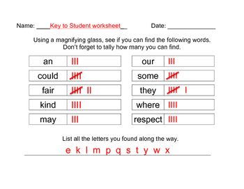 1st Grade Sight Word: January Martin Luther King Word Search