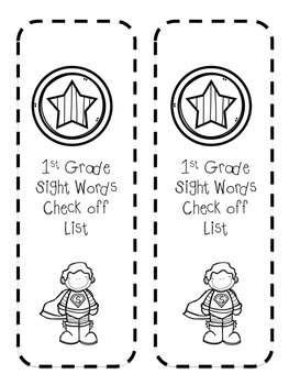 1st Grade Sight Word List