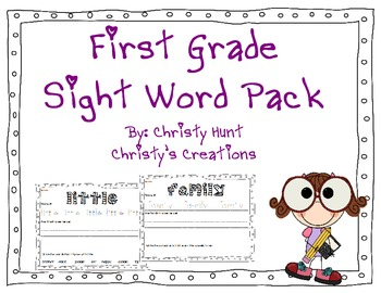 1st Grade Sight Word Pack