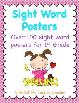 1st Grade Sight Word Posters