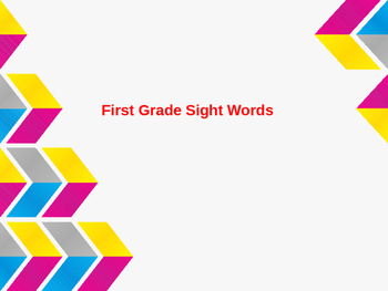 1st Grade Sight Word Powerpoint