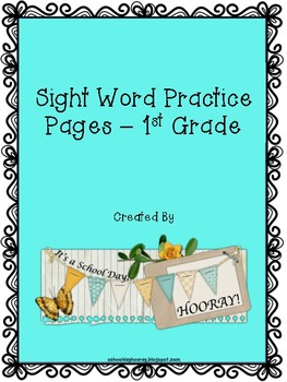 1st Grade Sight Word Practice Pages