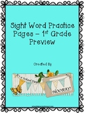 1st Grade Sight Word Practice Pages - Freebie