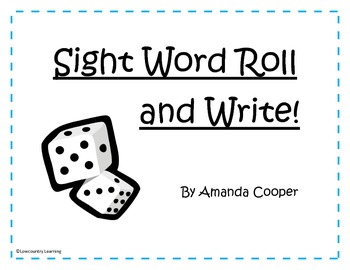 1st Grade Sight Word Roll and Write