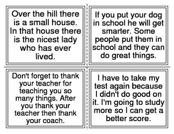 1st Grade Sight Word Sentences Task Cards (40 Sentences, 20 Cards)