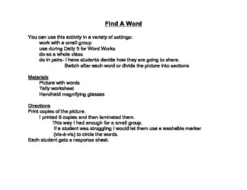 1st Grade Sight Word September Fall Word Search