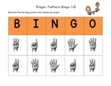 FREEBIE - Finger Pattern Bingo (Differentiated 1-5, 6-10, & 1-10)