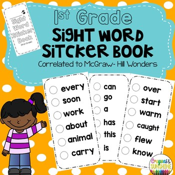 1st Grade Sight Word Sticker Book for McGraw Hill- Wonders