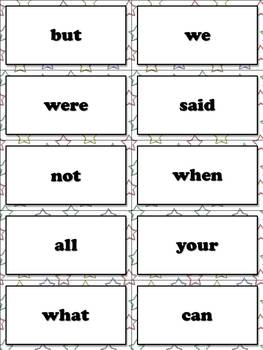 1st Grade Sight Word List #1 - First 100 High Frequency Words - Word Study