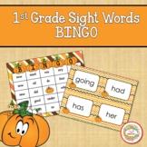 1st Grade Sight Words Bingo Fall Autumn