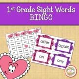 1st Grade Sight Words Bingo Valentine