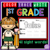 1st Grade Sight Words: Color, Trace, Write