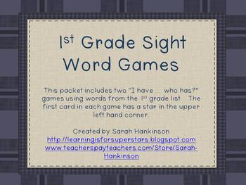 1st Grade Sight Words (I have/Who has games)