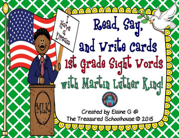 1st Grade Sight Words with Martin Luther King, Jr. - Read, Say, & Write