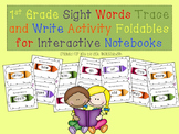 1st Grade Sight Words Trace and Write Activity for Interactive Notebooks