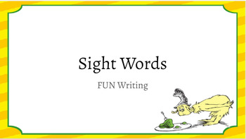1st Grade Sight Words Writing Station