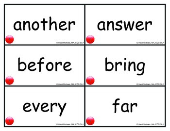 1st Grade Sight Words by Articulation Target