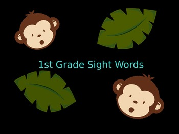 1st Grade Sight Words for the Year