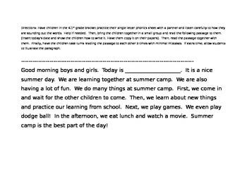 1st Grade - Single Letter Phonics