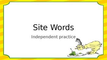 1st Grade Site Words Word Work Station