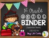 1st Grade Skill Binder [September Bundle]