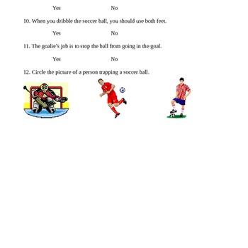 1st Grade Soccer Unit Plan
