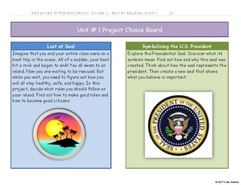 1st Grade-Social Studies-Adv. Diff-Unit: Citizenship and Government