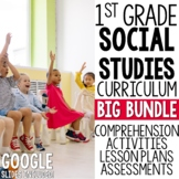 1st Grade Social Studies YEAR LONG BIG BUNDLE