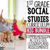 1st Grade Social Studies YEAR LONG BIG BUNDLE
