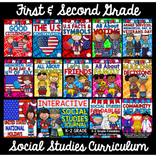 1st & 2nd Grade Social Studies CURRICULUM- (12 Units & SS Journal Bundle)