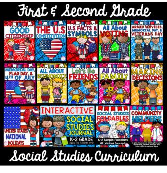 1st & 2nd Grade Social Studies CURRICULUM- (12 Units & SS Journal Bundle)