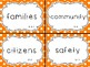 1st Grade Social Studies Content Vocabulary Words for Word Wall